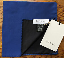 Paul Smith 100% Silk Reversible royal blau POCKET SQUARE MADE IN ITALY