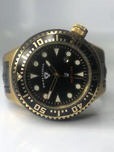 Swiss Legend Men's Neptune Black Stainless Swiss Quartz Watch Silicone