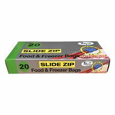 TIDYZ 20 Slide Zip Seal Food & Congélateur Sacs conserve alimentaire Fresh 17 x ...