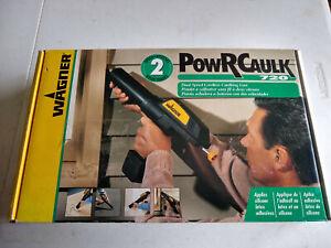 PowRCaulk (Power Caulk) 720 Wagner Dual Speed Cordless Caulking Gun complete +
