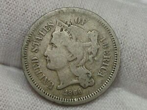 1866 3¢ Cent Nickel. #21