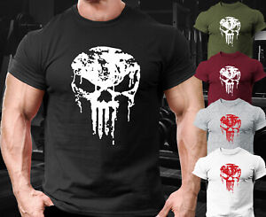 Punisher Gym ,Exercise , Workout, Bodybuilding ,Casual Training  T-shirt Sport