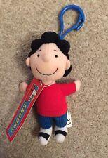 NEW Lucy Van Pelt Peanuts Snoopy Plush Keyring Toy