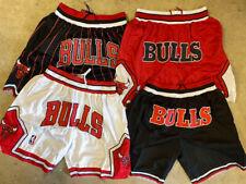 Chicago Bulls Men's Basketball Vintage Pinstripe/Red/White/Black Stitched Shorts