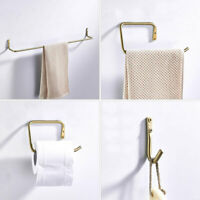 Brushed Gold 304 Stainless Steel Bathroom Accessory Single Towel Bar Towel Ring
