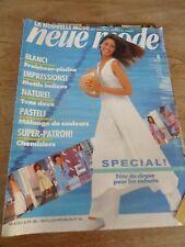"""👗 MAGAZINE VINTAGE """"NEUE MODE MOTIFS INDIEN BLANC FRAICHEUR ETE JUIN   1993"""