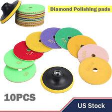 Diamond Polishing Pads 4 Inch Wetdry 10 Piece Set Granite Stone Concrete Marble