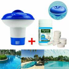More details for 100x pool cleaning tablets & floating chlorine hot tub dispenser chemical kit uk