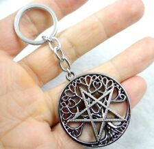 Fashion Creative Key Chain Ring Pentagram Keyring Keychain Free Shipping