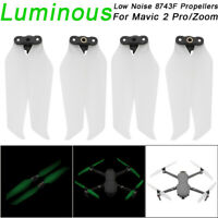 4x Luminous Low-Noise 8743F Propellers Blade Accessory For DJI Mavic 2 Pro Zoom