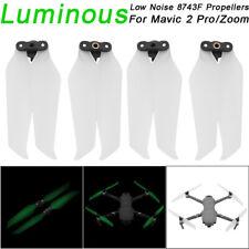 4x Luminous Low-Noise 8743F Propellers Blade Accessory For DJI Mavic 2 Pro Zoom