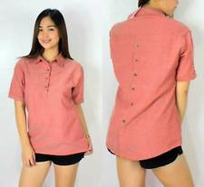 Botton Back Polo Shirt For Women (Red)