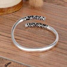 Gifts Men Thai Silver Vintage Jewelry Bracelet Bangle Open Cuff Women