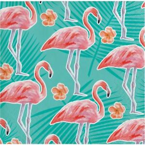 Hawaiian Luau Party Island Oasis Flamingo Beverage Napkins 16 Pack