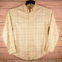 Turnbury Mens Medium Long Sleeve Button Down Block Beige Shirt