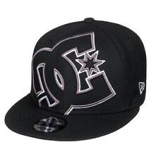 DC shoes New Era 9 Fifty Mens Baseball Cap. Double Up Black Flat Peak A 8 S 73 KV