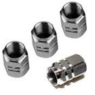 4 Silver Aluminum Wheel/Tire Valve Stem Cap Car Truck Air Dust Caps