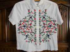 Vera Moda embroidered blouse shirt size XS used