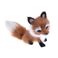 Cute Simulation Fox Plush Toy Imitation Furs Yellow Fox Doll Gift home Decor H&T