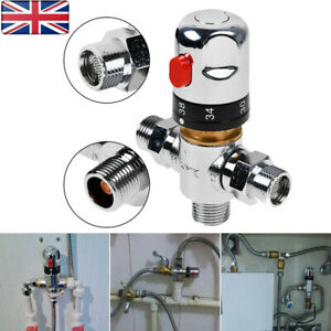 Hot Cold Water Thermostatic Blending Valve Mixer 15MM tmv Adjustable Temperature