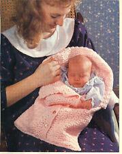 Crochet Pattern- Gorgeous Baby Newborn Sleeping bag- 3ply wool-0-4mths