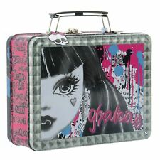 Monster High Makeup Tin School Lunch Box Nail Polish Lip Gloss Case Ghouls