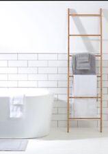 Decorative Display Designer Natural Bamboo Ladder Bath Dressing Towel Rack Rail