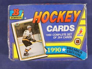 1990-91 Bowman Hockey Unopened Complete Box Set (264) Factory Sealed