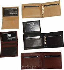 Men's Leather Wallet.leather men's bifold Detachable ID case zip pocket Lot of 3
