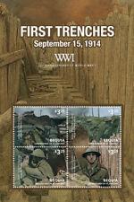 BEQUIA 2014 - WORLD WAR I SHEET OF 4 STAMPS (#2) MNH