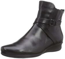 Ecco Womens Abelone Black Leather Zip Ankle Boots US 6-6.5 EU 37 NEW IN BOX