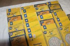 Lot de 29 cartes Michelin plus ou moins anciennes