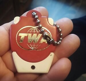 "RARE Trans World Airlines ""TWA"" KEY CHAIN FOB....LOOK!"
