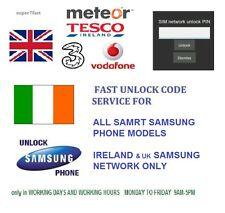 Unlocking for Samsung J100H ace J2, J3, J5 & J7 IRELAND & Uk Network unlock Code
