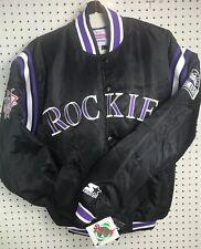 BRAND NEW Colorado Rockies Starter Diamond Collection Satin Jacket Mens Med MLB