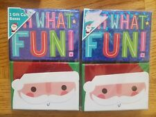Christmas Gift Card Holder Set of 4 Santa Oh What Fun! Multicolor Holiday Boxes