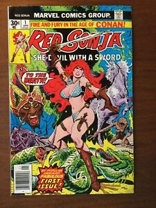Red Sonja #1, VF/NM 9.0, Jan 1977