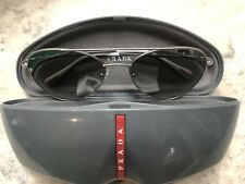 6ffe8581313c Prada Mens Or Unisex Aviator Sunglasses Silver Frame/mirror /White