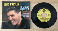 RARE FRENCH EP ELVIS PRESLEY ITS NOW OR NEVER 1st PRESSING NUMBER