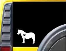 Mini Horse lil heart Decal Miniature Horse Sticker *J472*
