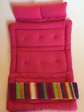 Only Hearts Club Fold Out Roll Up Bed Pink w/ Bed Scarf