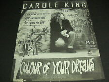 CAROLE KING Colour Of Your Dreams with spray paint 1993 PROMO POSTER AD mint