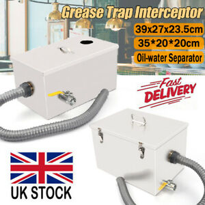 Stainless Steel Grease Trap Interceptor Oil Water Separator Kitchen Commercial