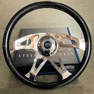 "18"" Steering Wheel Talon Wood Black Freightliner Kenworth Peterbilt Volvo"