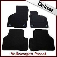 VW Passat B6 B7 2005-2015 Round Clips Tailored LUXURY 1300g Carpet Mats BLACK