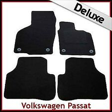 VW Passat B6 B7 2005-2015 Round Clips Tailored LUXURY 1300g Car Floor Mats BLACK
