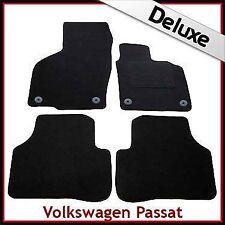 VW Passat B6 B7 2005-2015 Round Clips Tailored LUXURY 1300g Car Floor Mats BLACK