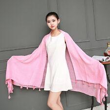 Women Girl Autumn Winter Large Long Cotton BlendCasual Scarf Wrap Shawl