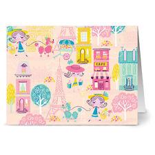 24 Note Cards - Poodles in Paris - Hot Pink Envs