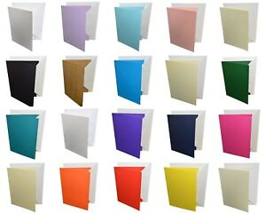 "5""x7"" Coloured Greeting Card Blanks & White Envelopes – Choose Colour & Quantity"